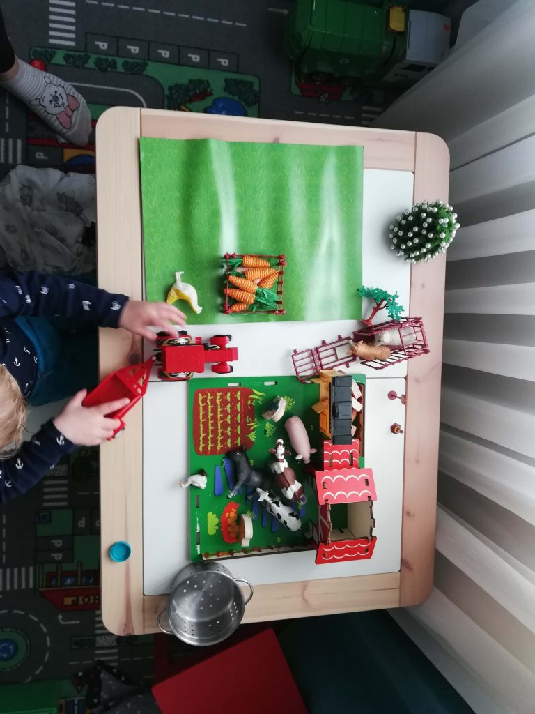 activitate-toddler-doi-ani-ferma